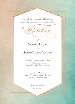 Geometric Ombre Invitation