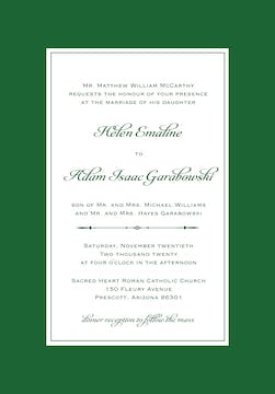 Simply Sophisticated Green Invitation
