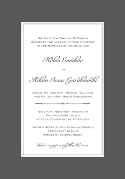 Simply Sophisticated Grey Invitation