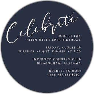 Celebrate Round Invitation