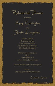 Brushed Edge Foil Invitation