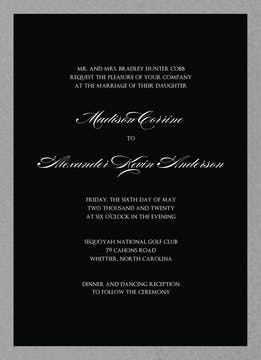 Brilliant Border on Black Foil-Pressed Invitation