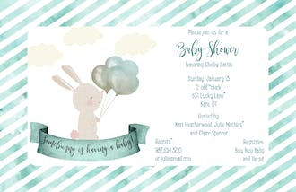 Some-Bunny Baby Shower Invitation