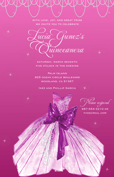 Party Dress Invitation