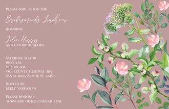 Blushing Garden Invitation