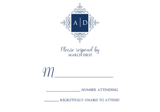 Elegant Medallion Reply Card