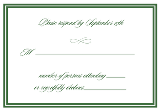 Double line border reply card