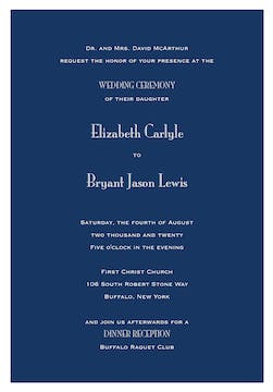 Navy Svelte Invitation