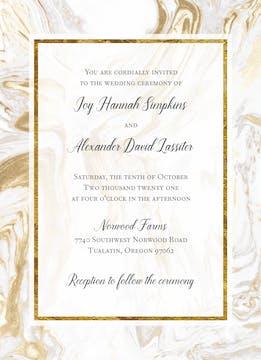 Marbled Elegance Invitation
