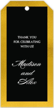 Black & Gold Gift Tag