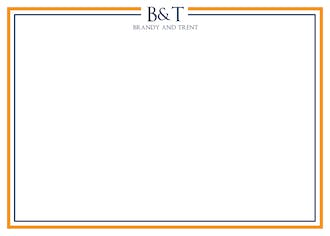 Orange and Navy Simple Flat Notecard