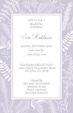 Botanical Leaves Invitation