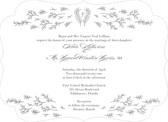 Glistening Florets Foil-Pressed Invitation