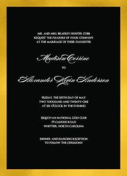 Black & Gold Invitation