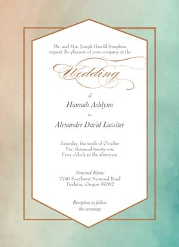 Metallic Ombre Foil-Pressed Invitation