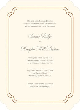 Shining Double Frame Foil-Pressed Invitation
