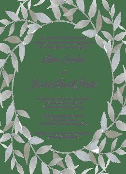 Watercolor Wreath Invitation