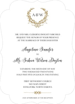 Gleaming Wreath Foil-Pressed Invitation