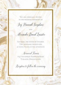 Lustrous Marble Foil-Pressed Invitation