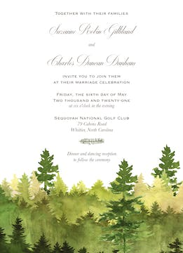 Watercolor Forest Invitation