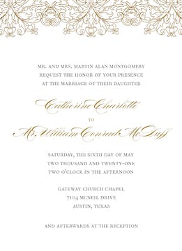 Gilded Lace Foil-Pressed Invitation