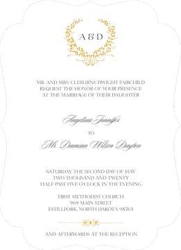 Gold Wreath Invitation