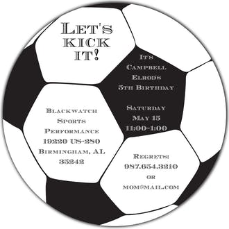 Soccer Ball Round Invitation
