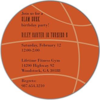 Basketball Round Invitation