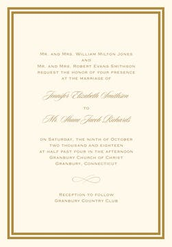 Double line border invitation