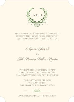 Green Wreath Invitation