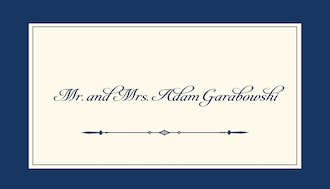 Simply Sophisticated Navy Enclosure Card