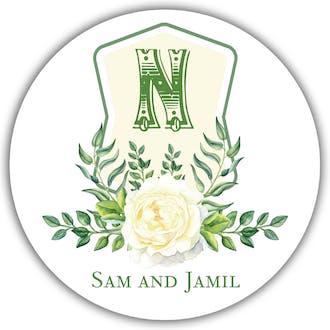 Crest Motif 19 Gift Sticker