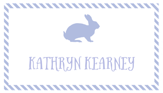 Lavender Bunny Enclosure Card