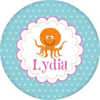 Octopus Circle Gift Sticker
