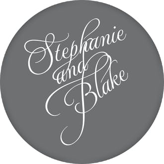 Grey Calligraphic Names Gift Sticker