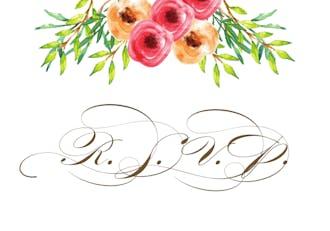 Watercolor Florals Reply Postcard