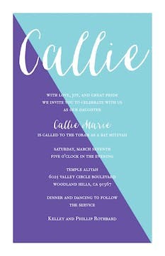 Color Slice Invitation