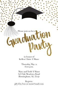 Confetti Graduate Party Invitation