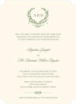 Green Wreath Invitation