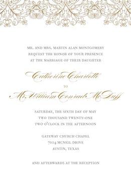 Gilded Lace Foil-Pressed Invitation