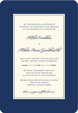 Simply Sophisticated Navy Invitation