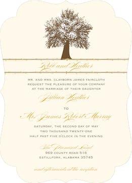Oak Tree Invitation