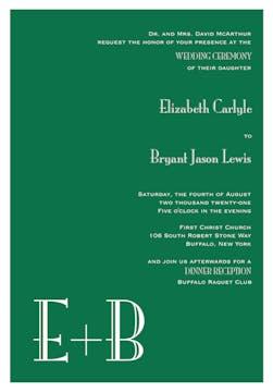 Green Svelte Invitation