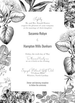 Classic Floral Invitation