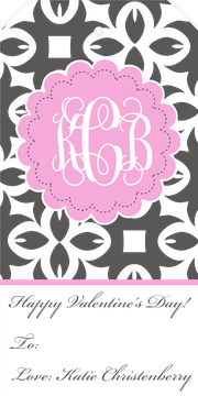 Monogram Hanging Gift Tag