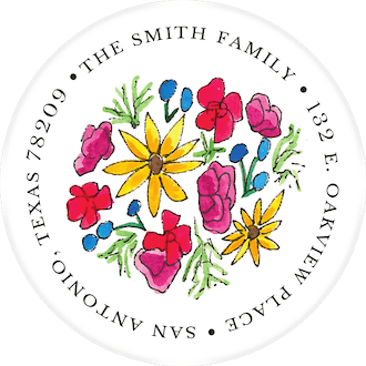 Summer Florals Return Address Sticker