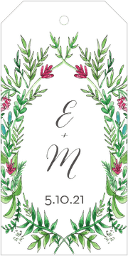 Ornate Vines Hanging Gift Tag