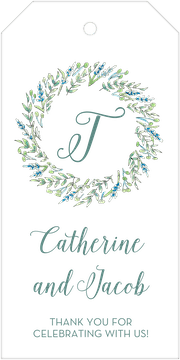 Blue and Green Floral Hanging Gift Tag
