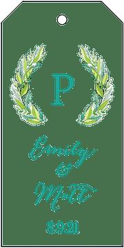 Modern Greenery Hanging Gift Tag
