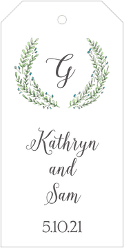 Buds and Greenery Hanging Gift Tag